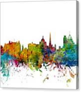 Victoria Canada Skyline Canvas Print