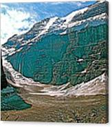 Victoria Glacier From Plain Of Six Glaciers In Banff Np-alberta Canvas Print
