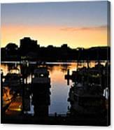 Victoria Harbor Sunset 3 Canvas Print