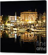 Victoria Inner Harbour At Night Canvas Print
