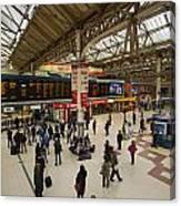 Victoria Railway Station London  Canvas Print