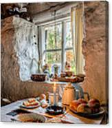 Victorian Cottage Breakfast V.2 Canvas Print