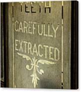 Victorian Dentist Sign Canvas Print