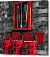Victorian Fire Buckets Canvas Print