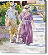 Victorian Gardeners Canvas Print