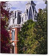 Victorian Home In Autumn Photograph As Gift For The Holidays Print Canvas Print