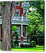 Victorian Home Painted Version Canvas Print