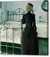 Victorian Lady In A Bedroom Canvas Print