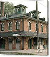 Victorian Train Station Galena Illinois Canvas Print
