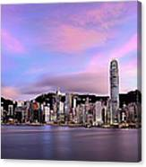 Victoric Harbour, Hong Kong, 2013 Canvas Print