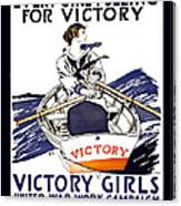 Victory Girls Of W W 1     1918 Canvas Print