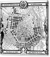 Vienna: Plan, 1860 Canvas Print