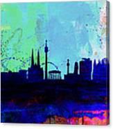 Vienna Watercolor Skyline Canvas Print