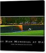 Viet Nam Memorial Wall With Border Canvas Print