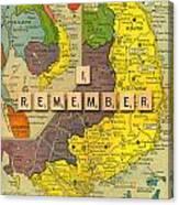 Vietnam War Map Canvas Print