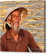 Vietnamese Boatman 02 Canvas Print