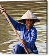 Vietnamese Boatwoman 02 Canvas Print