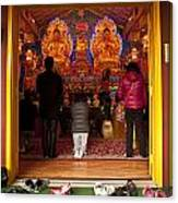 Vietnamese Temple Shrine Prayer Canvas Print