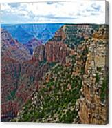 View Five From Walhalla Overlook On North Rim Of Grand Canyon-arizona Canvas Print