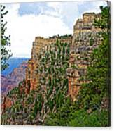 View Four From Walhalla Overlook On North Rim Of Grand Canyon-arizona Canvas Print