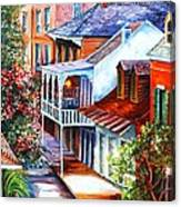 View From A Bourbon Street Balcony Canvas Print