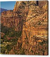 View From Angel's Landing 2 Canvas Print