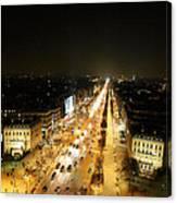 View From Arc De Triomphe - Paris France - 011318 Canvas Print