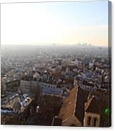 View From Basilica Of The Sacred Heart Of Paris - Sacre Coeur - Paris France - 011316 Canvas Print