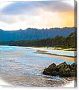 View From Bellows At Kaneohe Canvas Print
