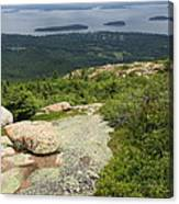View From Cadillac Mountain - Acadia Park Canvas Print