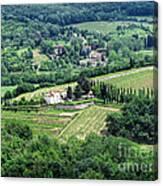 View From Castello Vicchiomaggio Canvas Print