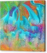 View From Central Park Abstract Painting Canvas Print