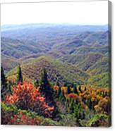 View From Devil's Courthouse Mountain Canvas Print