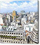 View From Edificio Martinelli - Sao Paulo Canvas Print