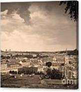 View From Hradcany Of Mala Strana Canvas Print