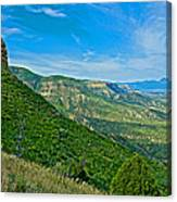 View From Knife Edge Road Overlooking Montezuma Valley In Mesa Verde National Park-colorado   Canvas Print
