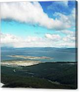View From Martial Glacier, Ushuaia Canvas Print