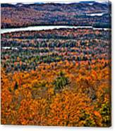 View From Mccauley Mountain Canvas Print