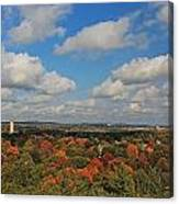 View From Mt Auburn Cemetery Tower Canvas Print
