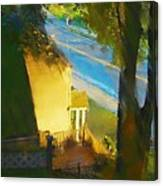 View From My Window On A Summer Afternoon  B-12 Canvas Print