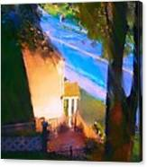 View From My Window On A Summer Afternoon  B-15 Canvas Print