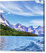 View From The Stern Canvas Print