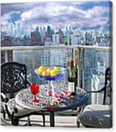 View From The Terrace Canvas Print