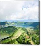 View From The Top Of Sete Cidades Canvas Print