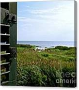 View From The Window At East Point Light Canvas Print