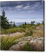 View From Top Of Cadilac Mountain In Acadia National Park Canvas Print