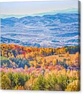View From Vitosha Mountain Near Sofia City Canvas Print