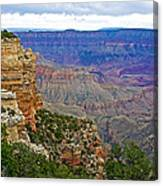 View From Walhalla Overlook On North Rim Of Grand Canyon-arizona  Canvas Print
