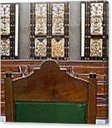 View Into Courtroom From Judges Chair Canvas Print