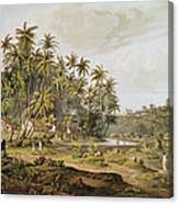 View Near Point Du Galle, Ceylon, Engraved By Daniel Havell 1785-1826 Published In 1809 Coloured Canvas Print